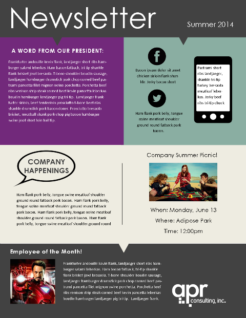 Employee Newsletter Template1