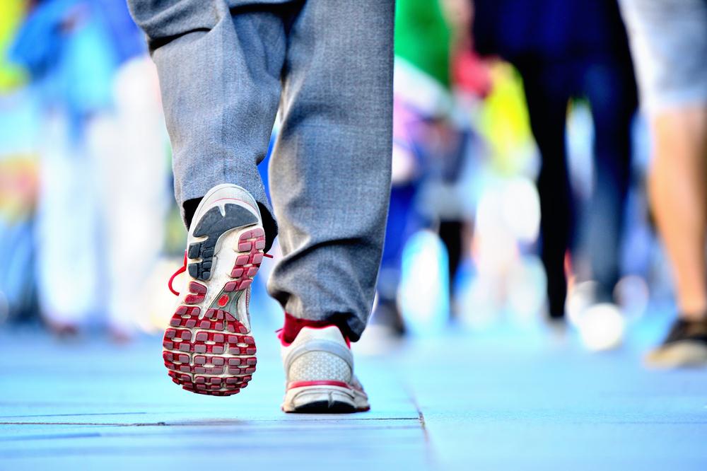 Shoes Walking Away